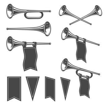 Set of mobochrome fanfare