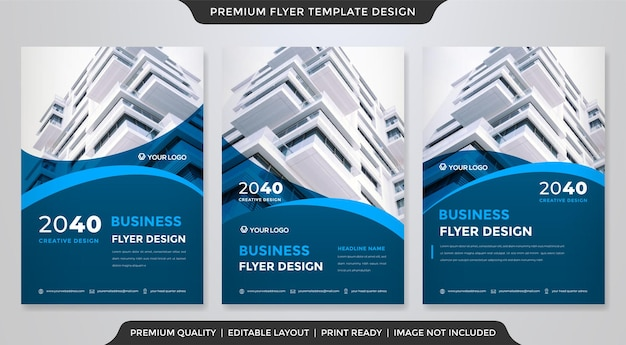 Set of modern a4 flyer template   style