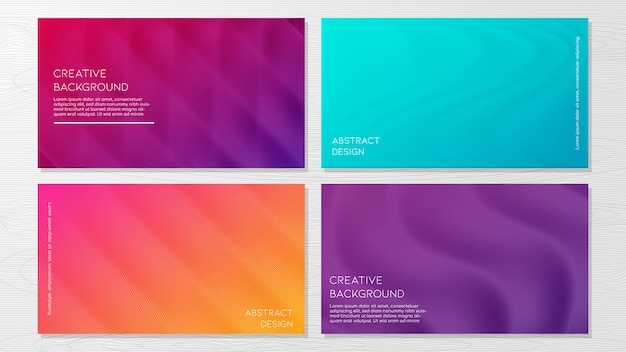 Set of modern abstract geometric background templates