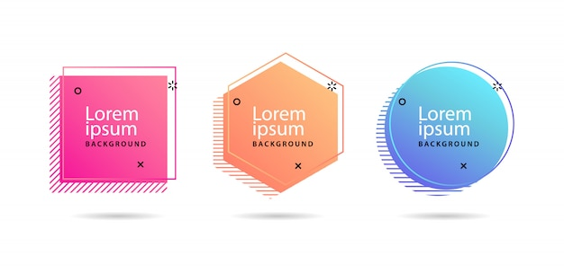 Set of modern abstract vector banners