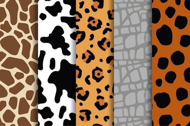 Set of modern animal print patterns