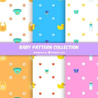 Set of modern baby patterns