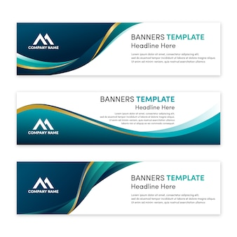 Set of modern banner template