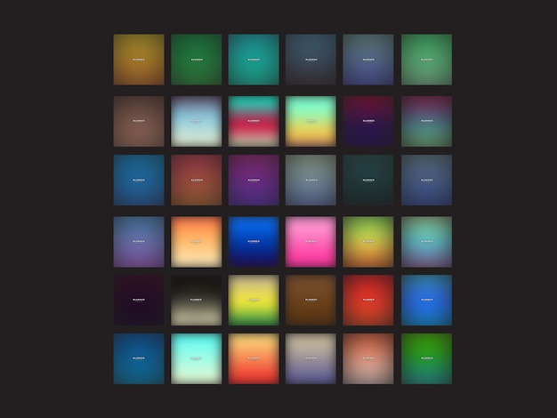 Set of modern blur background template