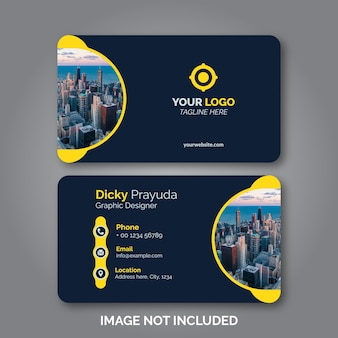 Set of modern business card design template