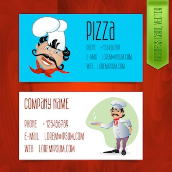 Set of modern business cards for restaurants