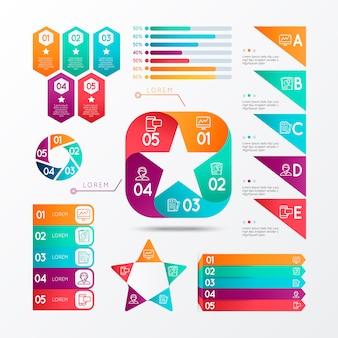 Set modern business infographics