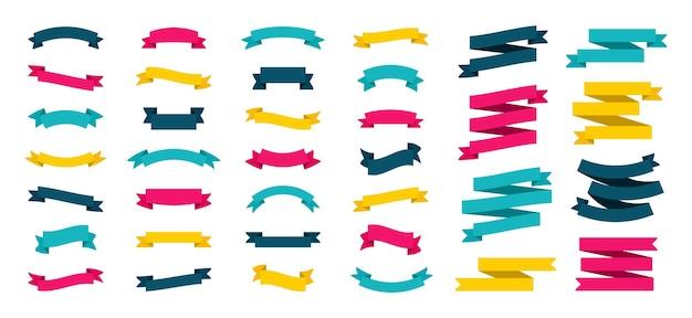 Set of modern colored ribbons. ribbon.