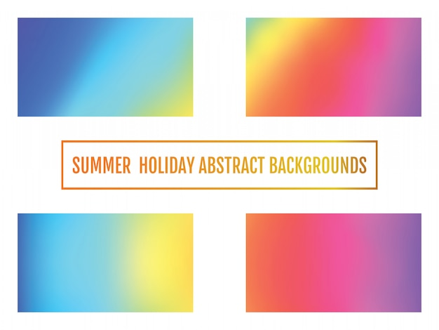 Set of modern colorful flow background. summer holiday