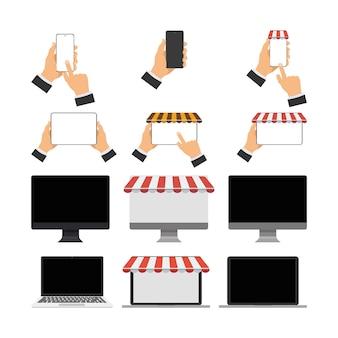 A set of modern gadgets