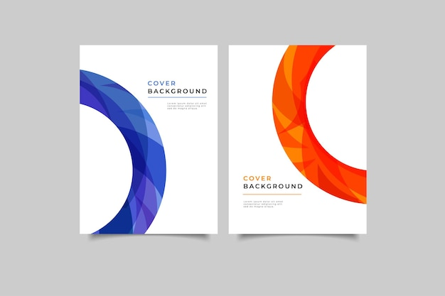 Set of modern geometric cover design
