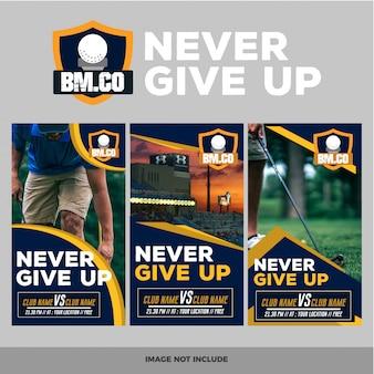Set of modern golf web banner