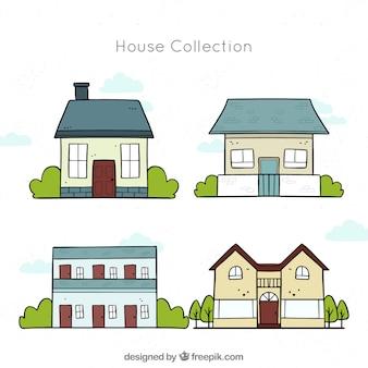 Set di case moderne