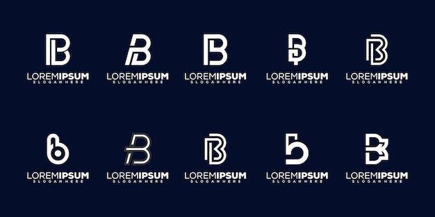 Set modern letter b logo desig