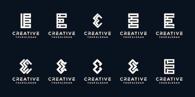 Установить современный дизайн логотипа буква е
