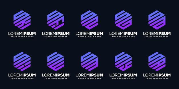 Установить современный дизайн логотипа буква f