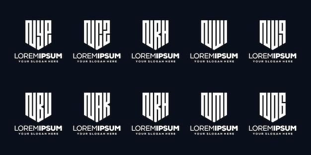 Set modern letter g logo design
