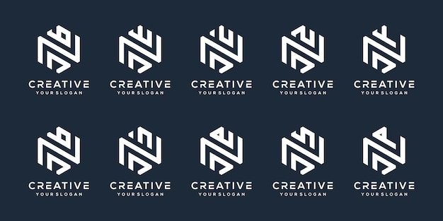 Set modern letter j logo design