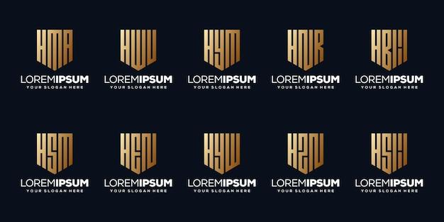 モダンな文字lのロゴデザインを設定します