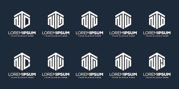 Установить современный дизайн логотипа буква n