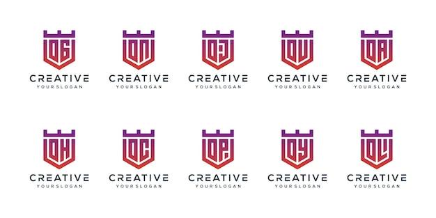 モダンな文字oロゴデザインを設定します