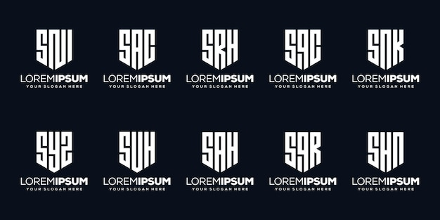モダンな文字qロゴデザインを設定します