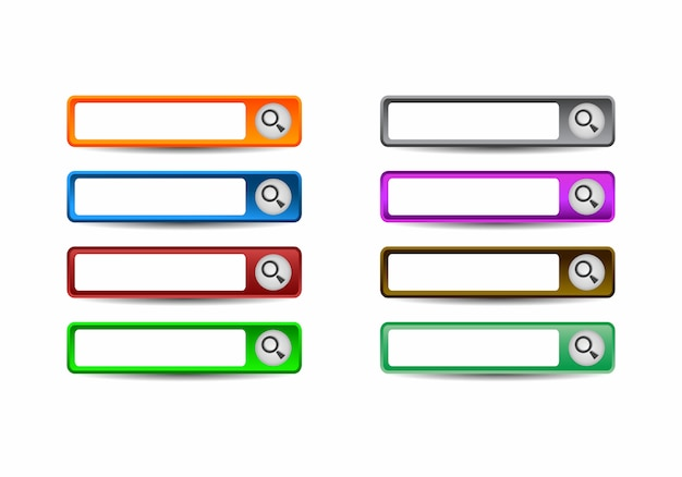 Set of modern material style buttons for website, mobile app and infographic