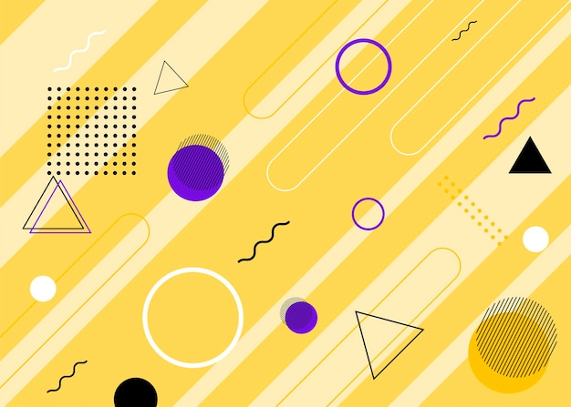 Set of modern memphis style covers. colorful geometric background can be used brochure design, flyer, web banner, ads poster, magazine, flat cover for web. vector illustartion.