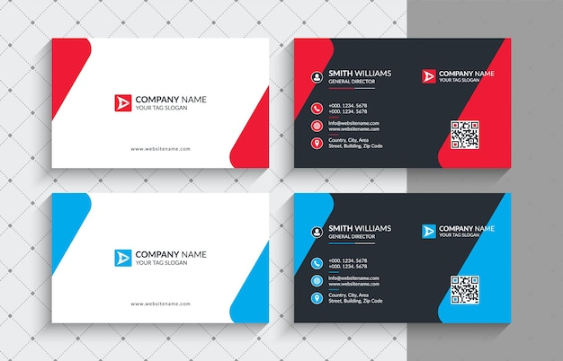 Set of modern professional business card template