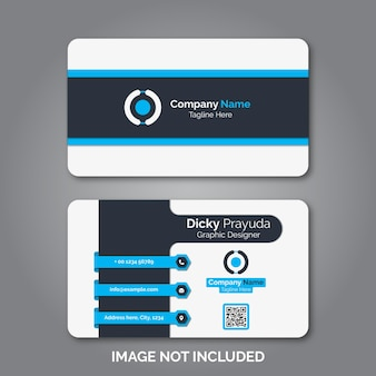 Set of modern professional business card