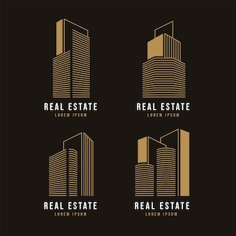 Set of modern real estate logo