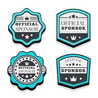 Set of modern sponsor labels