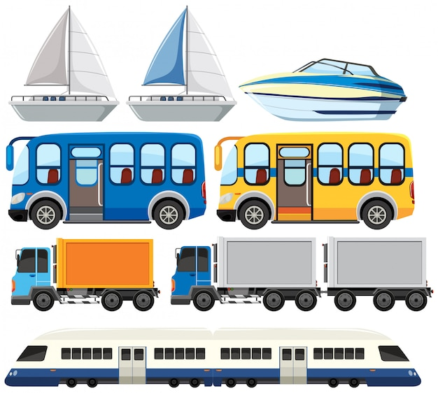 Set of modern transportation