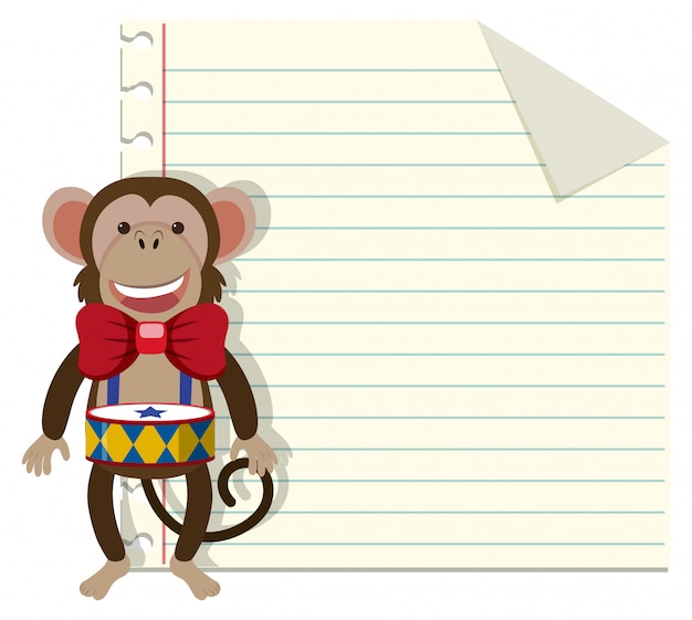 Set of monkey on note template