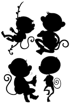 Set di sagoma scimmia