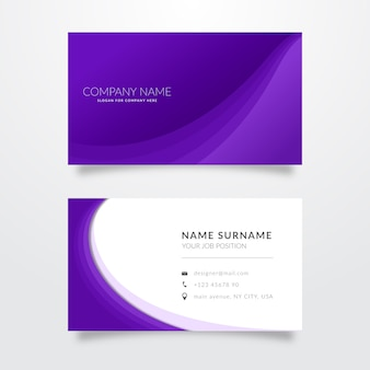 Set of monochromatic business cards