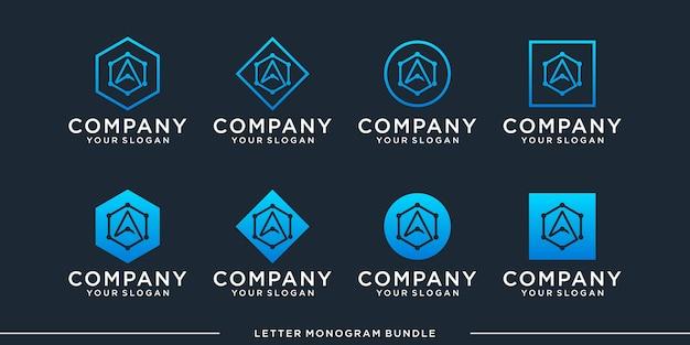 モノグラムをロゴデザインテンプレートに設定