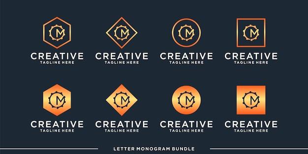 モノグラムcロゴデザインテンプレートを設定します