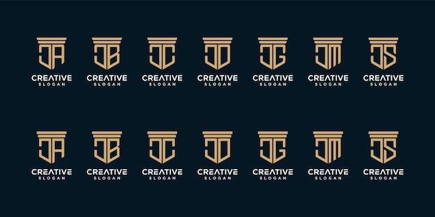 Set of monogram logo design