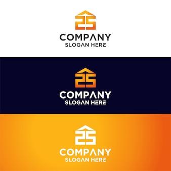 Set of monogram logo premium
