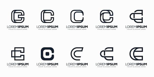 モノライン文字cロゴエンプレートを設定します