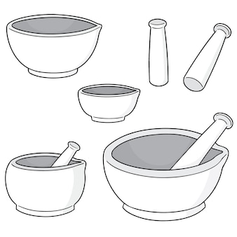 Set of mortar and pestle