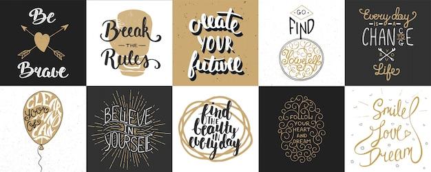 Set of motivational letterings