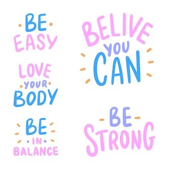 Set of motivational phrase
