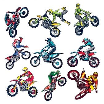 Set of motocross