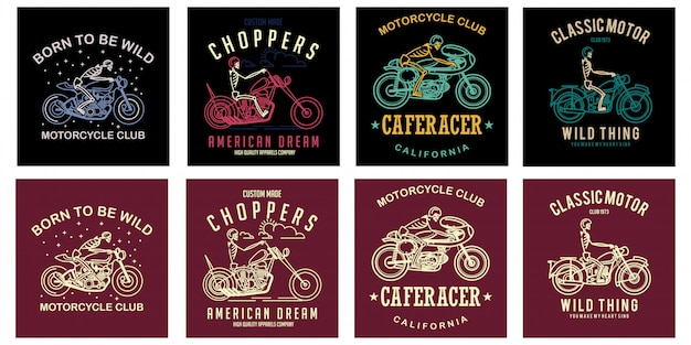 Set of motorcycles club