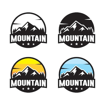 Set of mountain logo template