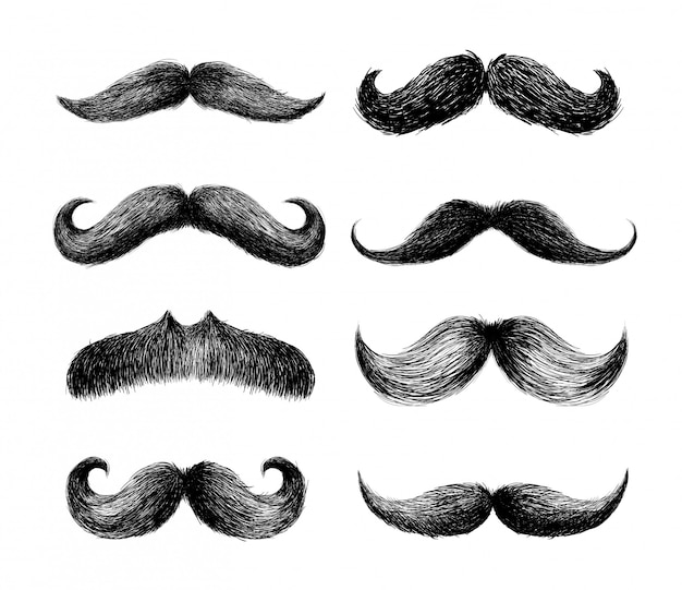 Set of moustaches