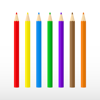 Set of multi-colored pencils