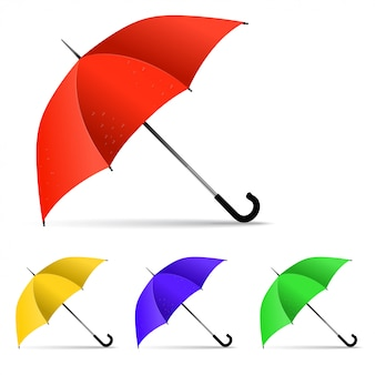 Set of multi-colored umbrella